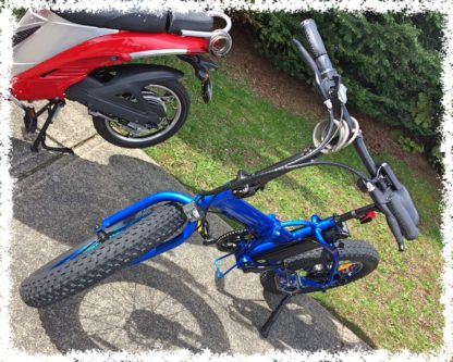 BLUE - Folding Fat Tire e-Bike